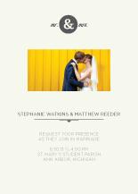Wedding Invitations with photo - mr & mrs