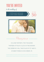Wedding Invitations with photo - type & arrows