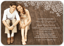 Wedding Invitations with photo - devotion