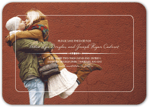 Save the Date Card with photo - devotion