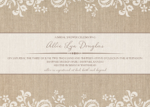 Wedding Shower Invitation - devotion