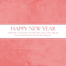 New Years Cards - best wishes