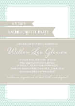 Bachelorette Party Invitation - honey sweet