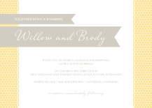 Wedding Invitations - honey sweet