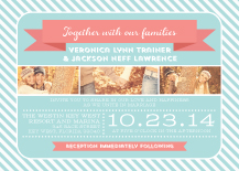 Wedding Invitations with photo - smitten