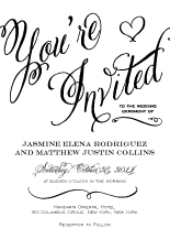 Wedding Invitations - romantic