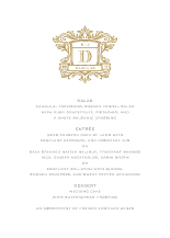 Menu - wedding heraldry