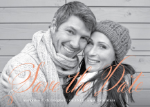 Save the Date Card with photo - happily ever after