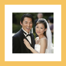 Wedding Thank You Card with photo - whimsical charm