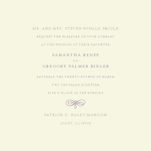 Wedding Invitations - with a flourish