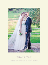 Wedding Thank You Card with photo - with a flourish