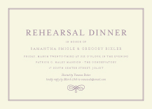 Rehearsal Dinner Invitation - with a flourish