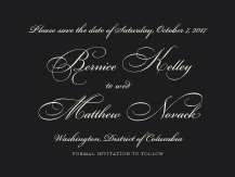 Save the Date Card - unity