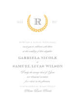 Wedding Invitations - modern laurel