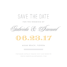 Save the Date Card - modern laurel
