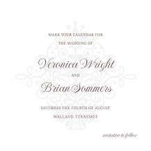 Save the Date Card - kiss the bride