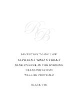 Reception Card - true elegance