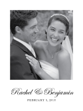 Wedding Thank You Card with photo - true elegance