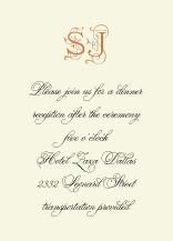 Reception Card - quintessential