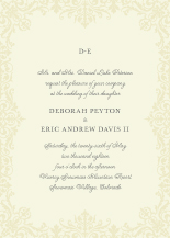 Wedding Invitations - brocade border