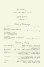 Wedding Program - brocade border