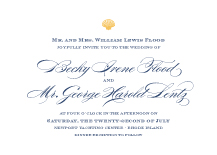 Wedding Invitations - maritime