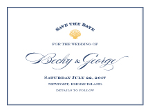 Save the Date Card - maritime