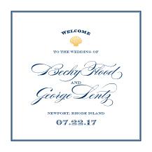 Wedding Program - maritime