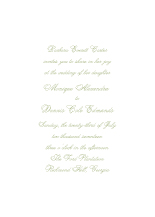 Wedding Invitations - a simple vow