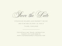 Save the Date Card - regal