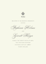 Wedding Program - regal