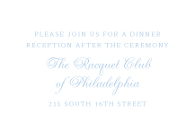Reception Card - classic cornice