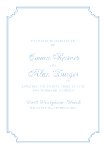 Wedding Program - classic cornice