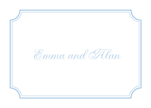 Wedding Thank You Card - classic cornice