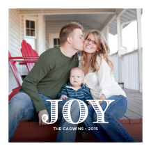 Holiday Cards - filled with joy