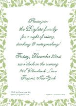 Holiday Party Invitations - holly frame