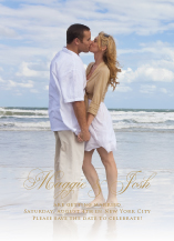 Save the Date Card with photo - unconditionally