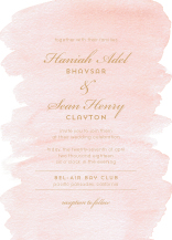 Wedding Invitations - brushstroke