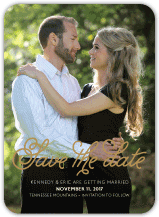 Save the Date Card with photo - in full bloom