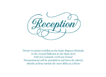 Reception Card - sweet embrace