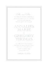 Wedding Invitations - embossed pearls