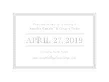 Save the Date Card - embossed pearls