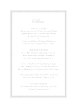 Menu - embossed pearls