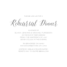 Rehearsal Dinner Invitation - sonoma