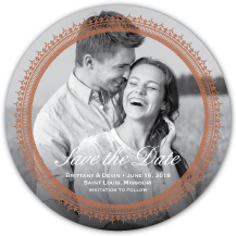 Save the Date Card with photo - antoinette