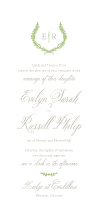 Wedding Invitations - rustic laurel
