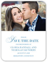 Save the Date Card with photo - you and i