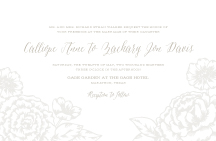 Wedding Invitations - elegant garden