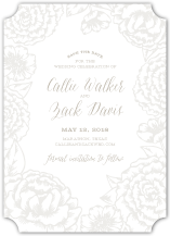 Save the Date Card - elegant garden