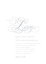 Wedding Invitations - young love